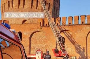 В Смоленске спасатели сняли верхолазов с башни Орел
