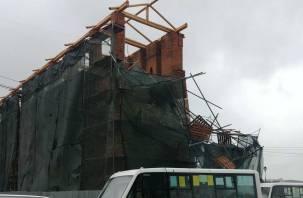 В Смоленске проведут проверку после обрушения строительных лесов на крепостной стене