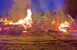 Пожар в Сафоновском районе. Сгорели четыре поросенка, 19 кур и семь индюков