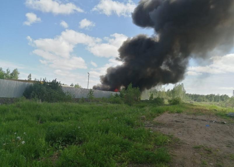 В Смоленской области произошел серьезный пожар
