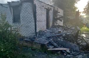 В Смоленском районе в сгоревшем доме обнаружен труп мужчины