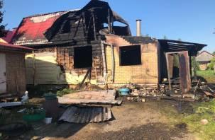 Спасаясь из горящего дома смолянка выпрыгнула в окно