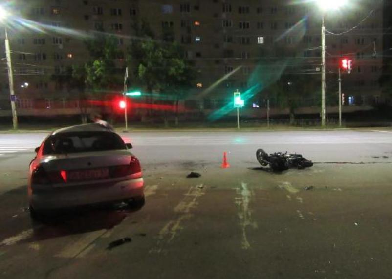 В Смоленске ищут свидетелей ДТП, в котором пострадал мотоциклист