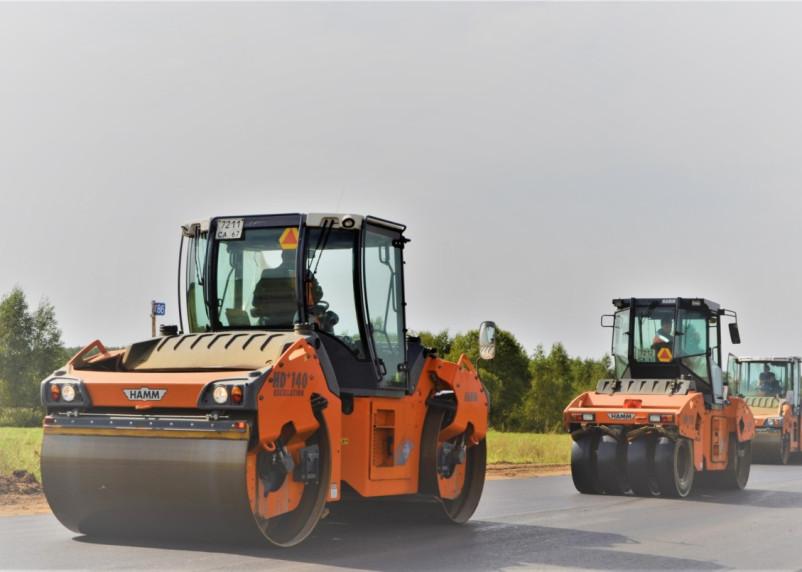 В Смоленской области ремонтируют дорогу в Пржевальское