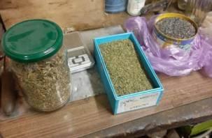 870 грамм марихуаны и револьвер. В Смоленской области задержали подозреваемого в сбыте наркотиков