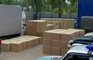 Почти полмиллиона пачек контрафактных сигарет задержали пограничники в Смоленской области
