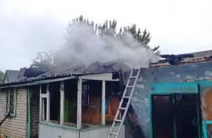 В товариществе «Тепловик» сгорели баня, дом и гараж