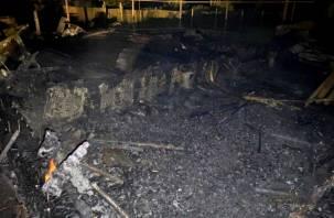 В товариществе «Полет 1» почти три часа пожарные тушили дачный дом