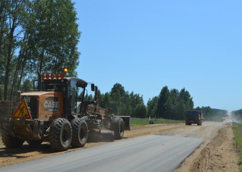 В Смоленской области ведется реконструкция участка дороги Рославль-Ельня-Дорогобуж-Сафоново