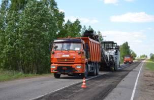В Смоленском районе начался ремонт двух участков дороги