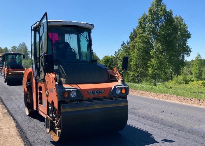 Смоленскавтодор ремонтирует два участка дороги Смоленск-Вязьма-Зубцов