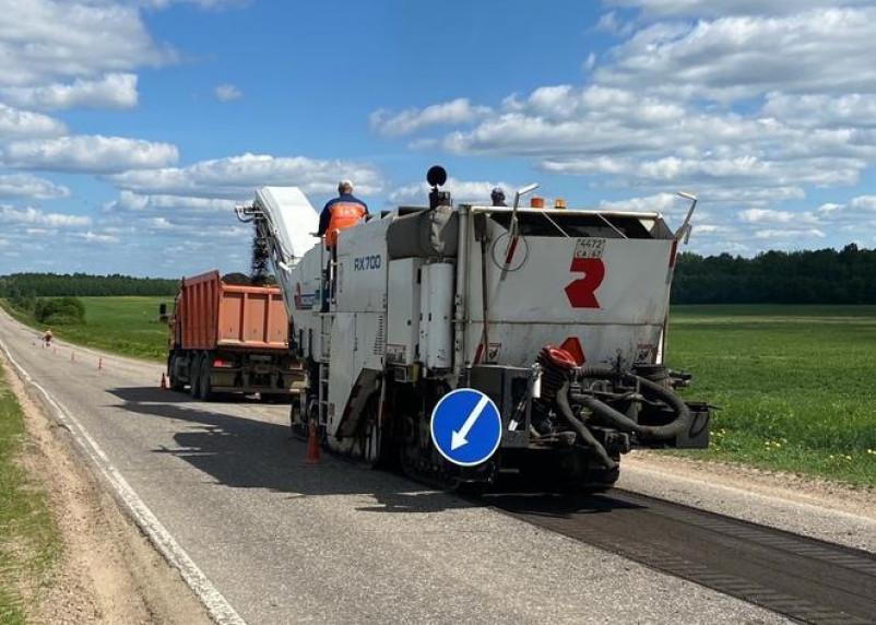 Гагаринском районе стартовал ремонт дорог по нацпроекту
