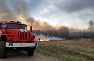 Тонна сена сгорела в Демидовском районе