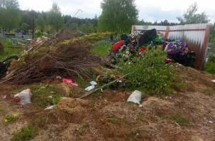 В Смоленской области кладбища утопают в горах мусора