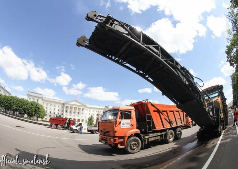 В Смоленске стартовал ремонт площади Ленина