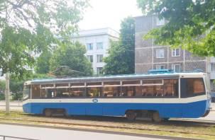 В Смоленске на Багратиона трамвай сошел с рельсов