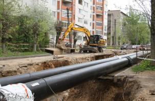 В Смоленске продолжаются ремонтные работы на улице Нормандия-Неман