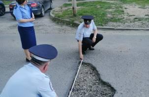 Многочисленные нарушения выявлены в сфере безопасности дорожного движения в Смоленске