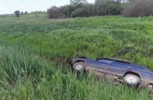 В Смоленском районе автоледи на ВАЗе вылетела в кювет