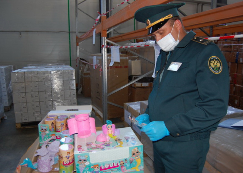 Более 7,5 тысяч контрафактных игрушек задержали на границе Смоленской области