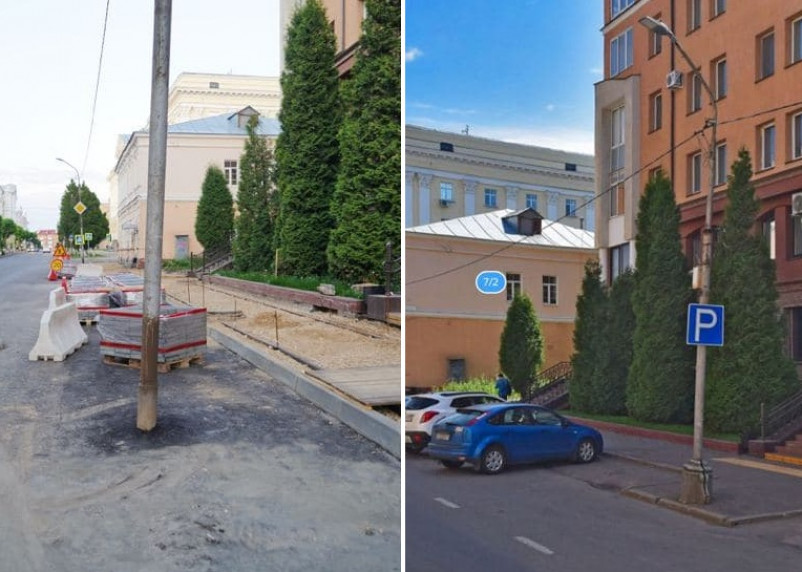 На улице Пржевальского «юбки» со старых световых опор вернут на свои места