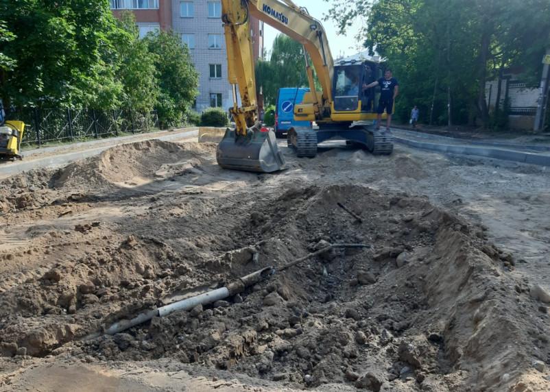 В Смоленске повредили высоковольтную линию в ходе ремонта дороги