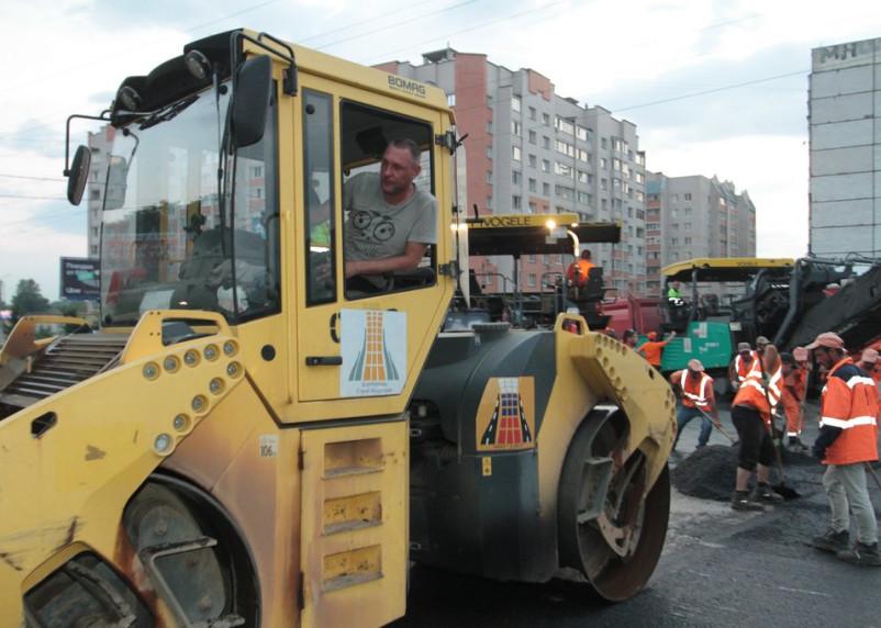 Как ремонтируют проспект Строителей в рамках нацпроекта