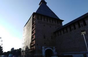 На Копытенской башне в парке началась реставрация