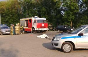 В Смоленске в ДТП погиб мотоциклист. Видео с места происшествия