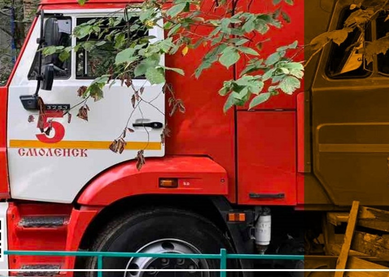 В Смоленске пожарные ликвидировали возгорание на улице Дзержинского