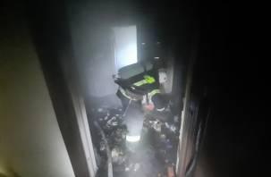Квартира повреждена огнем. В Смоленске утром произошел пожар