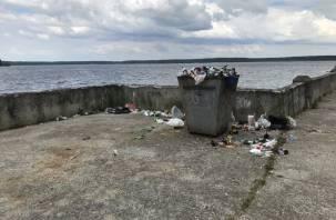 «Благоустройство от ЛДПР». Десногорская набережная утопает в мусоре