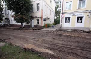 Ремонт улицы Маяковского пообещали завершить ко Дню города