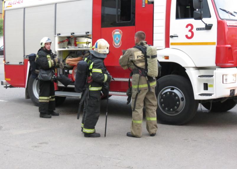 В Смоленске на Шевченко утренний пожар создал переполох