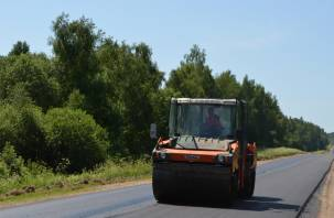 Смоленскавтодор ремонтирует дорогу «Обход г. Дорогобуж»