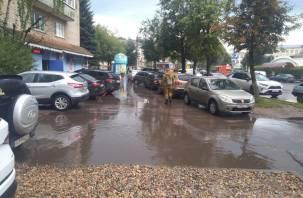 В Смоленске автохамы захватили тротуар
