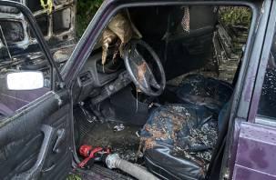 Огнем поврежден салон. Утром в Вязьме горел ВАЗ-2107