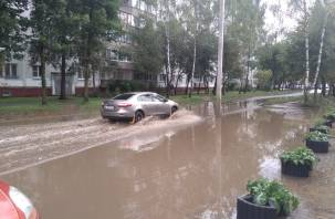 Проспект водолазов. Новая дорога в Промышленном районе Смоленска страдает из-за старой канализации