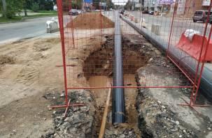 На Нормандия-Неман без перемен: смоляне возмущаются неспешной реконструкцией городской магистрали