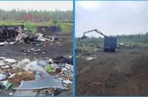 В Ярцеве ликвидировали несанкционированную свалку на землях промышленности