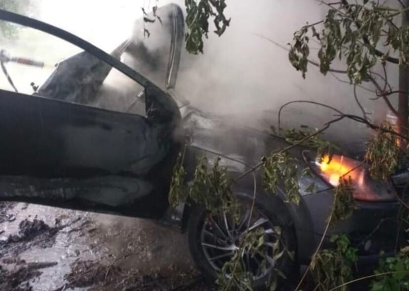 В Смоленской области авто попало в ДТП и загорелось