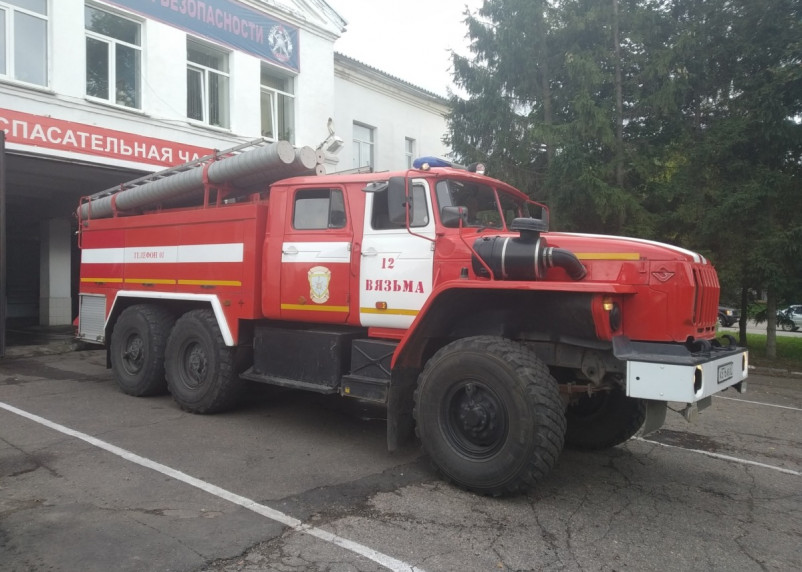 В Вяземском районе 8 августа полыхала баня