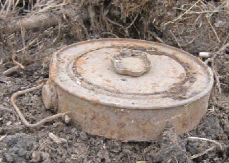 В Смоленске обнаружили противотанковую мину времен войны