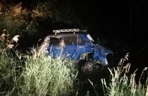 Водитель и пассажир получили ранения в ДТП в Хиславичском районе