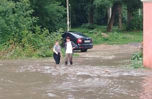 Автозаплыв по-смоленски. Улицы города затопило после ливня