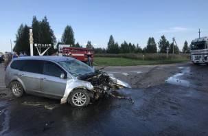 В Ельнинском районе в ДТП с фурой пострадал человек