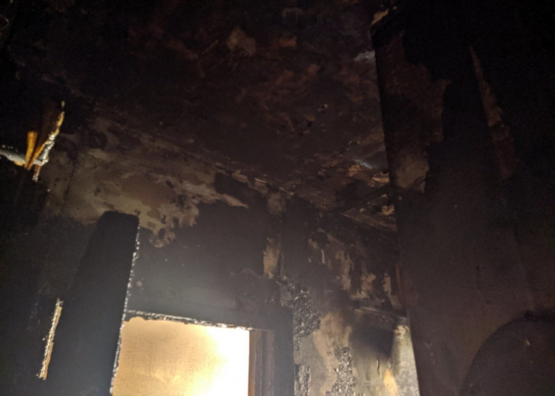 В Смоленске при пожаре пострадал человек