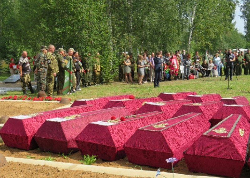 В Смоленской области бойцы поисковых отрядов подняли останки 79 воинов