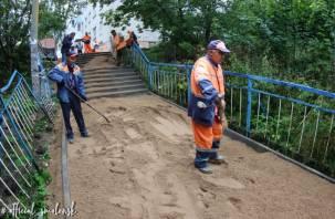 Лестницу, соединяющую Кловку с улицей Нахимова, обещают отремонтировать раньше срока