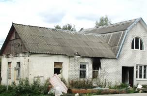 В Новосельцах загорелся строящийся дом